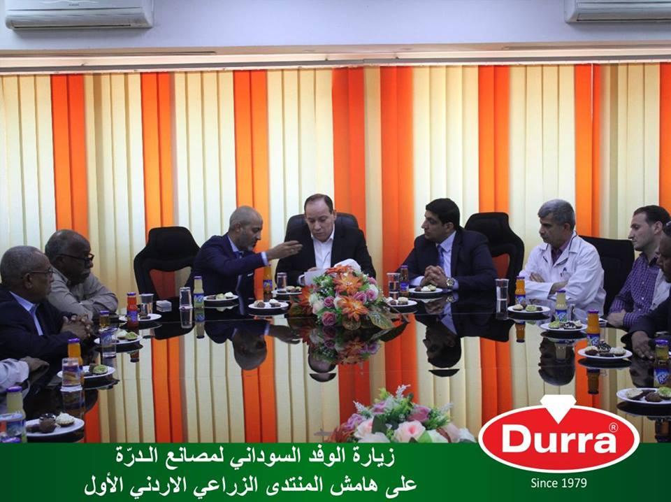 لقطات من زيارة الوفد السوداني لمصانع شركة الـدرّة العالمية في الأردن