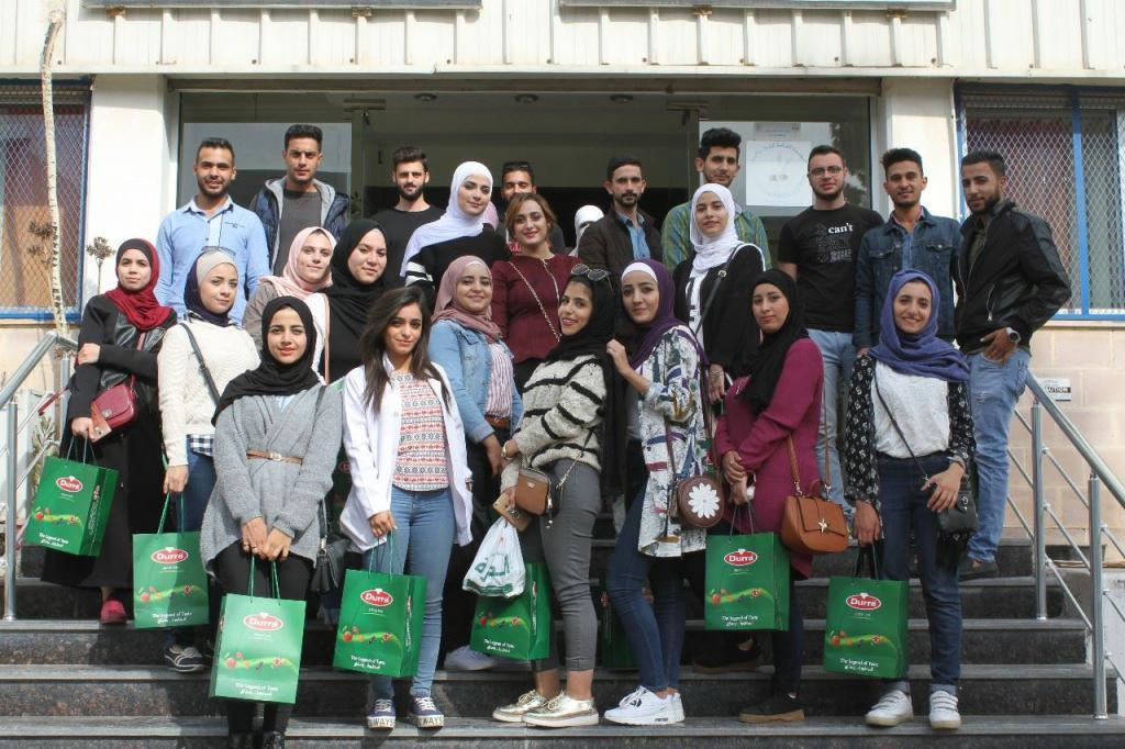 زيارة طلاب جامعة العلوم والتكنولوجيا لمصانع الـدرّة العالمية في الأردن