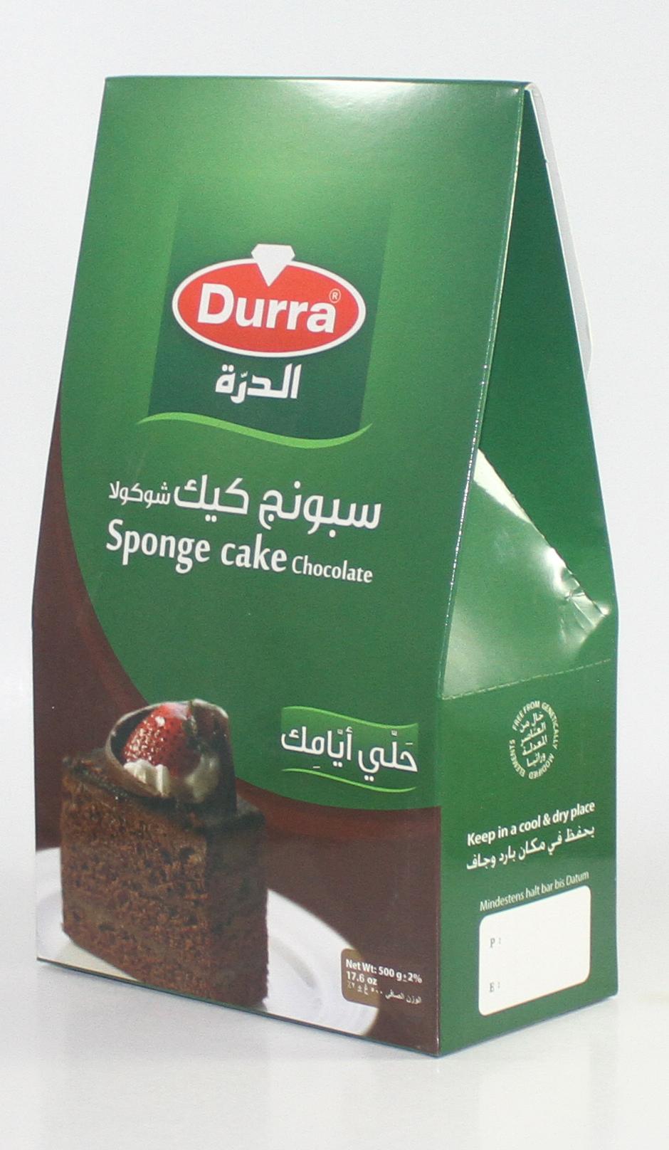 كيكة سبونج شوكولا الدرة علبة كرتون 500غ