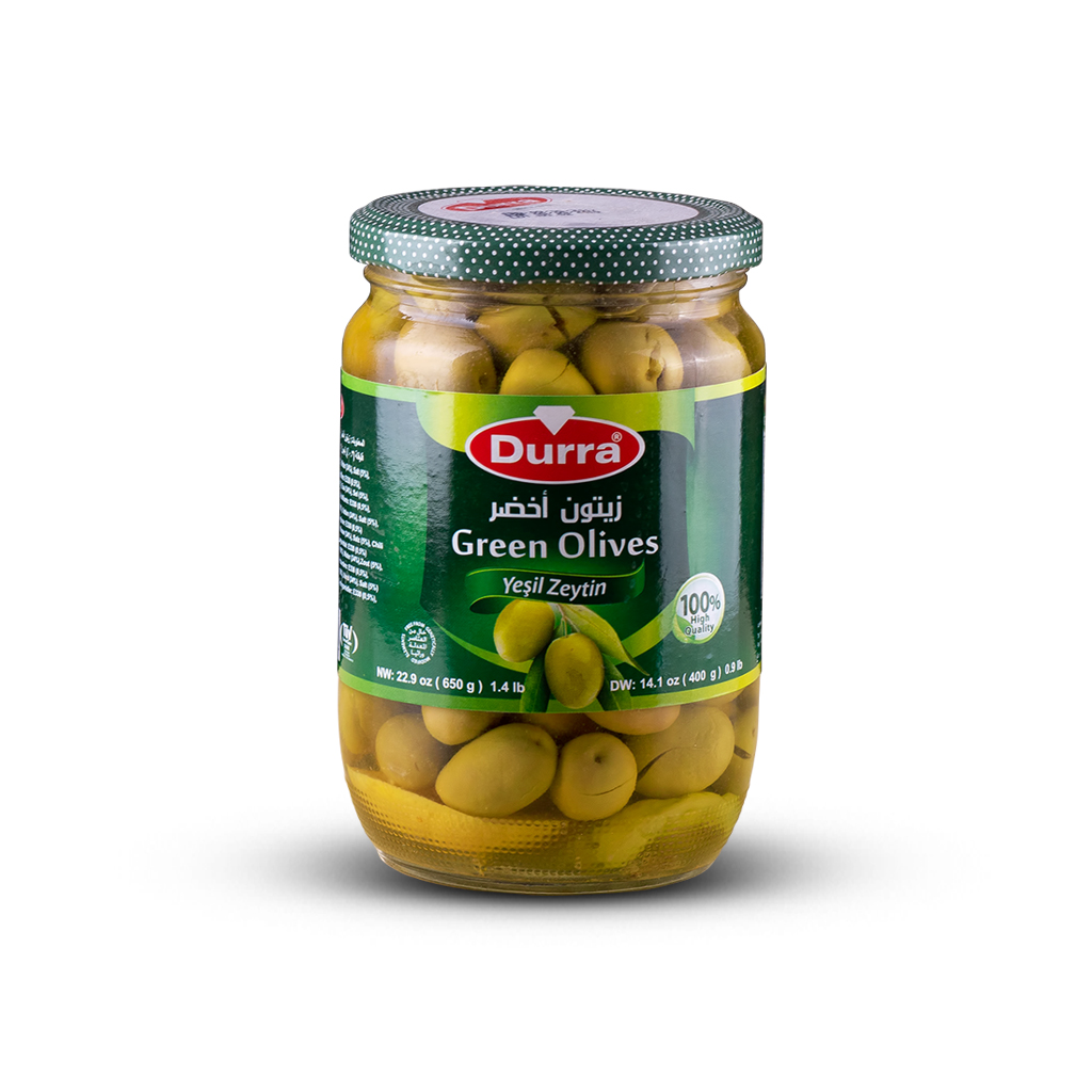 زيتون أخضر حلبي مطربان زجاجي650غ